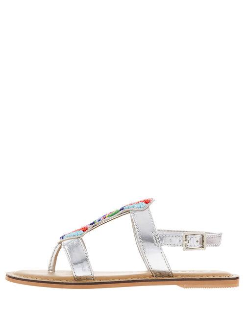 Colourful Bead Metallic Sandals, Multi (BRIGHTS-MULTI), large