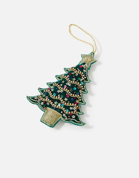 Embellished Christmas Tree Hanging Decoration , , large