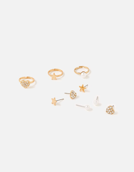Sparkle Earring and Ring Set , , large