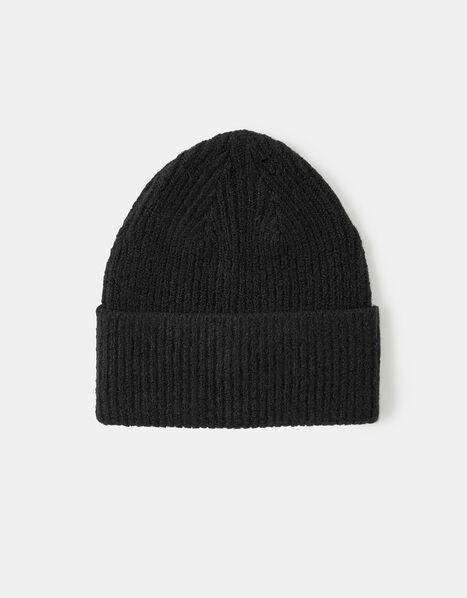 Soho Knit Beanie Hat Black, Black (BLACK), large