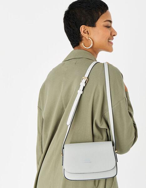 Ruby Saddle Cross-Body Bag  White, White (WHITE), large