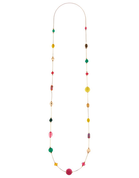 Ivory Coast Coloured Bead Rope Necklace, , large