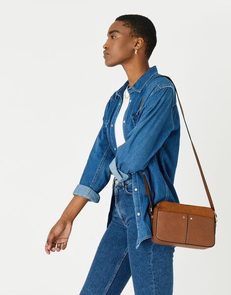 Charlotte Cross-Body Bag Tan, Tan (TAN), large