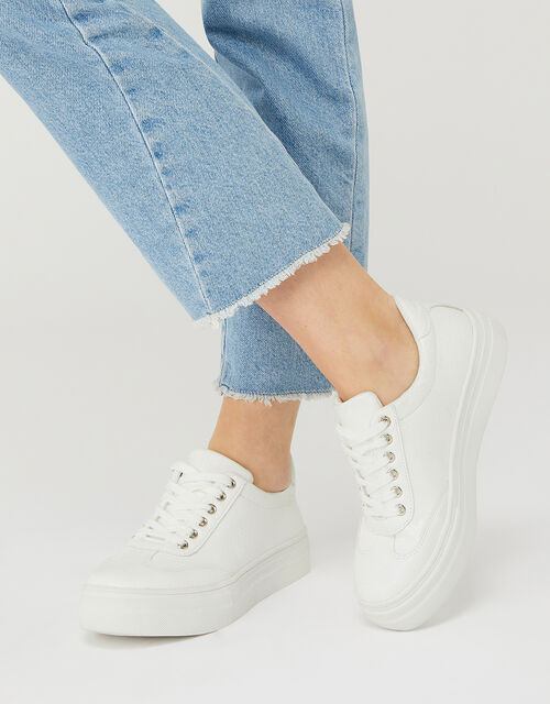 Chunky Trainers, White (WHITE), large