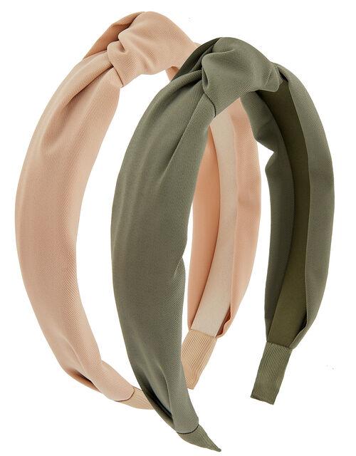 Wide Knot Headband Set, , large