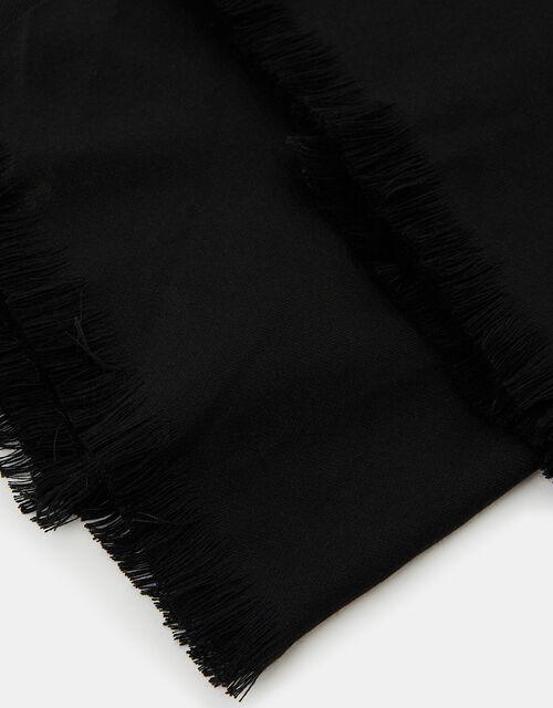 Plain Woven Stole, Black (BLACK), large