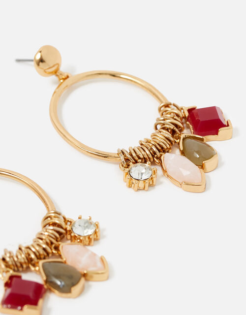 Berry Blush Mix Charm Hoops , , large