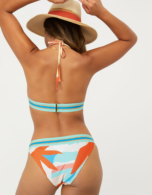 Palm Clash Print Bikini Top with Recycled Polyester, Multi (BRIGHTS-MULTI), large