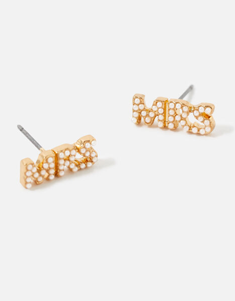 Bridal Mrs Stud Earrings, , large