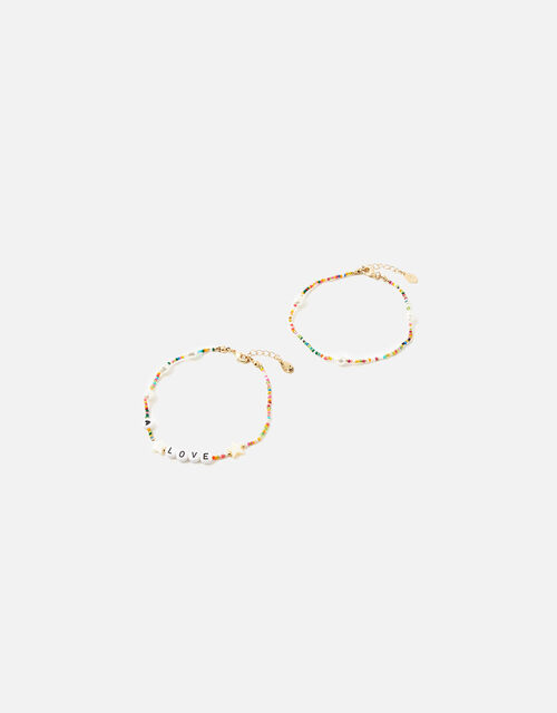 Rainbow Love Charmy Anklets, , large