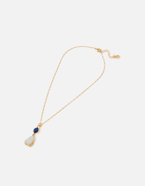 Midnight Sky Two-Tone Pendant Necklace, , large