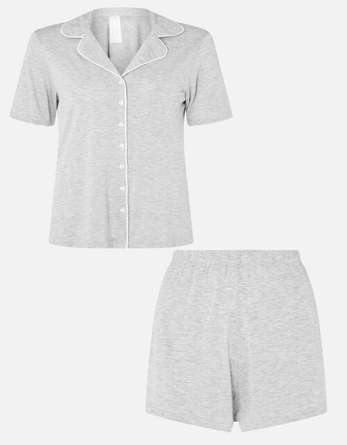 Jersey Shirt and Shorts Pyjama Set, Grey (GREY), large