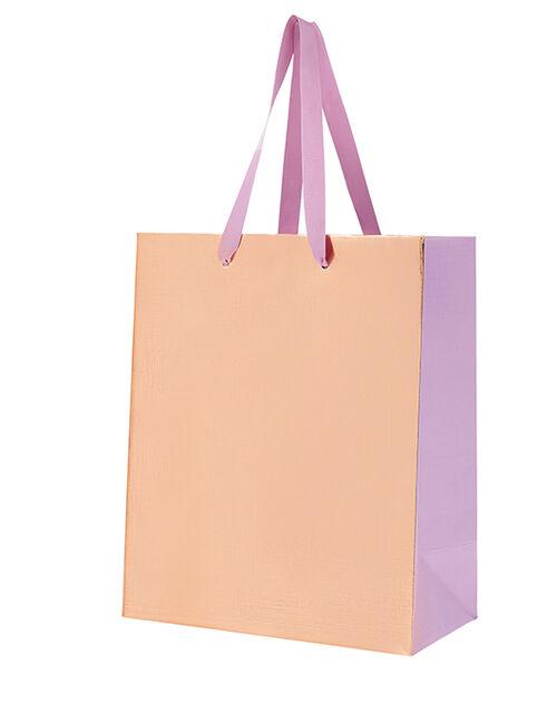 Medium Metallic Gift Bag with Bow, , large