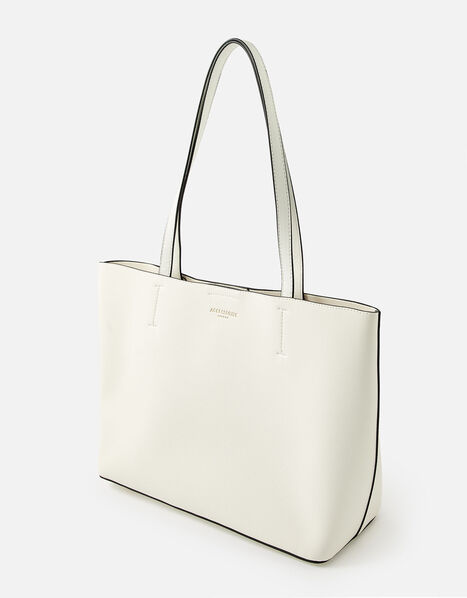 Leo Tote Bag White, White (WHITE), large