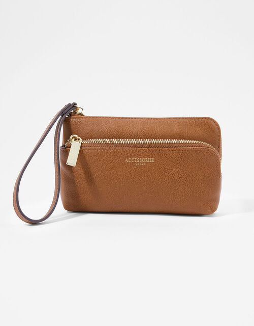 Wristlet Pouch Bag, Tan (TAN), large