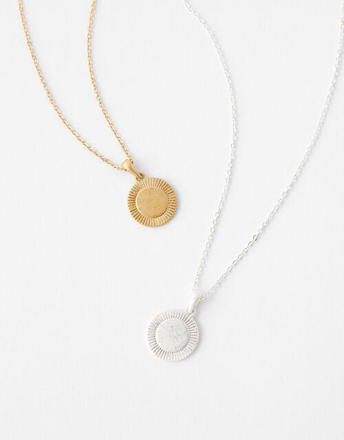 Coin Pendant Necklace Set, , large