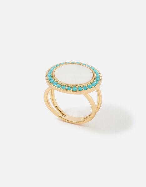 Feel Good Statement Enamel Ring Cream, Cream (PEARL), large