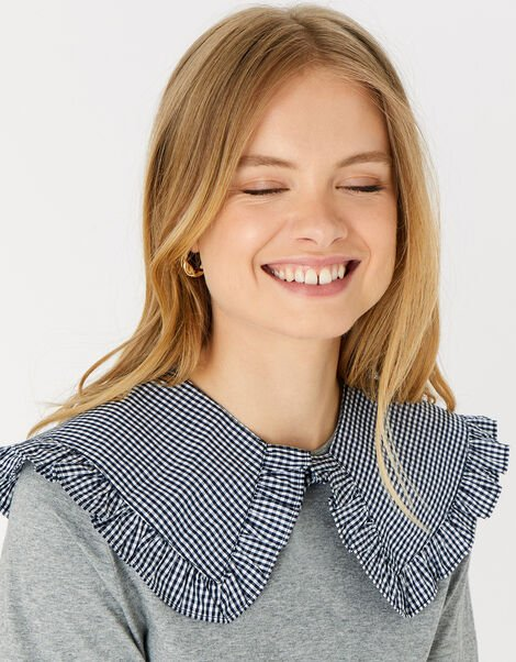 Sally Gingham Collar , , large