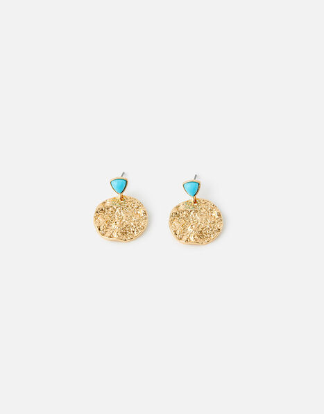 Island Vibes Beaten Short Drop Earrings , , large
