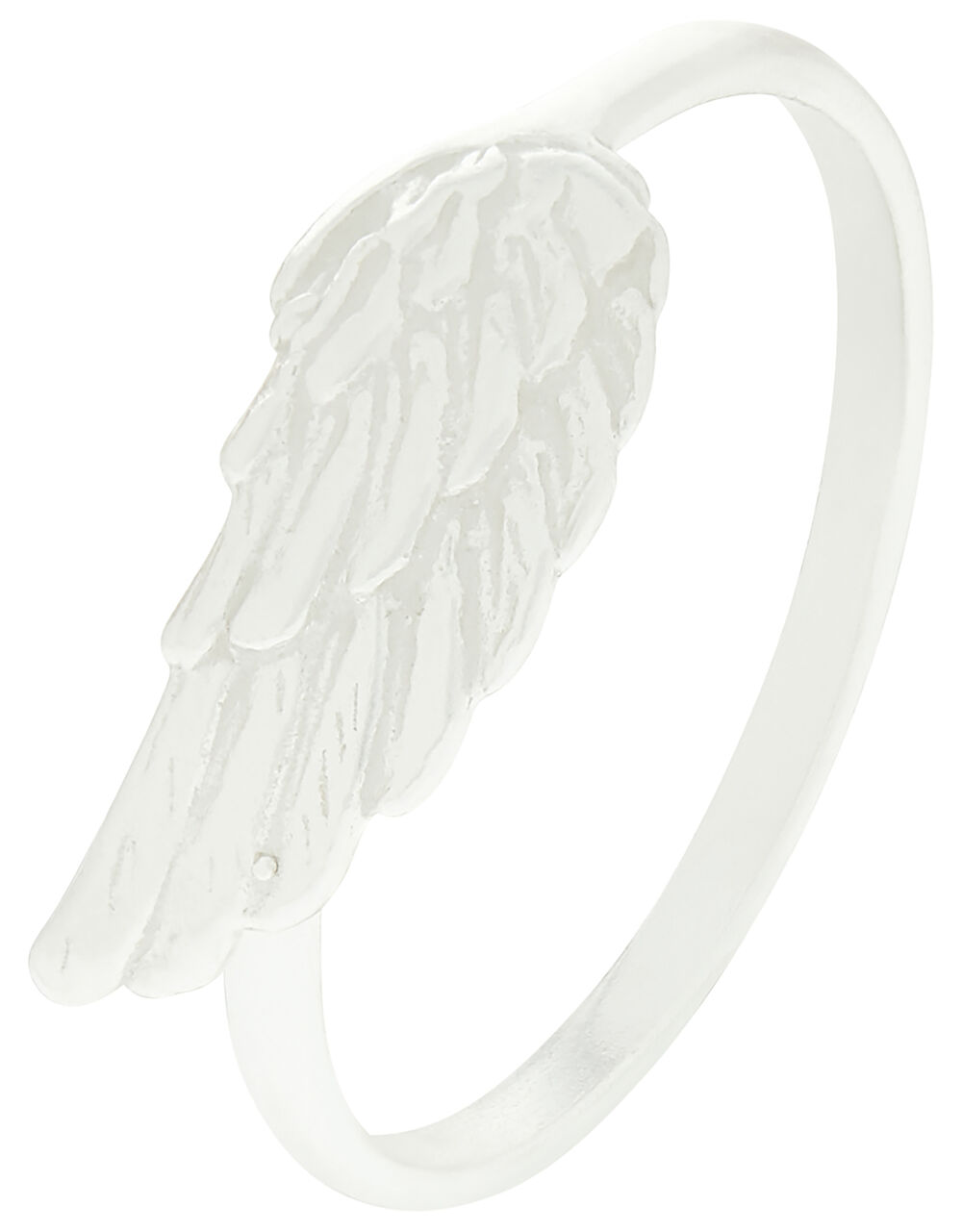Sterling Silver Angel Wing Ring, Silver (ST SILVER), large