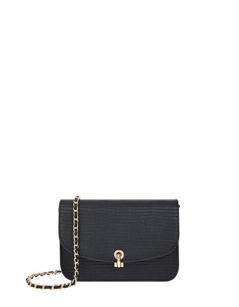 Edie Croc Cross Body Bag, , large