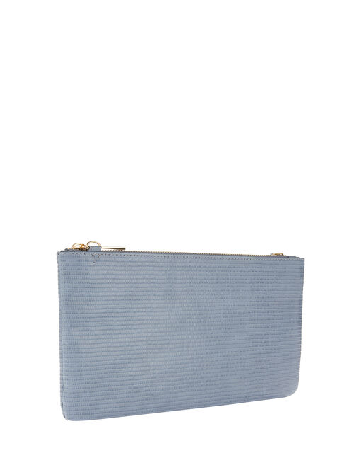 Zip Clutch Bag, Blue (BLUE), large