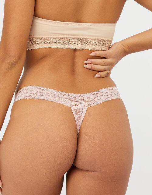 Halenka Lace Thong Multipack, Pink (PINK), large