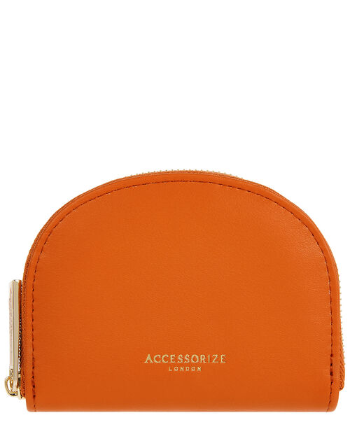 Crescent Coin Purse, Orange (CORAL), large