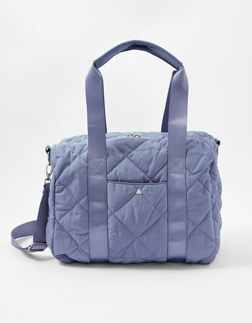 Becca Quilted Gym Bag, Blue (BLUE), large