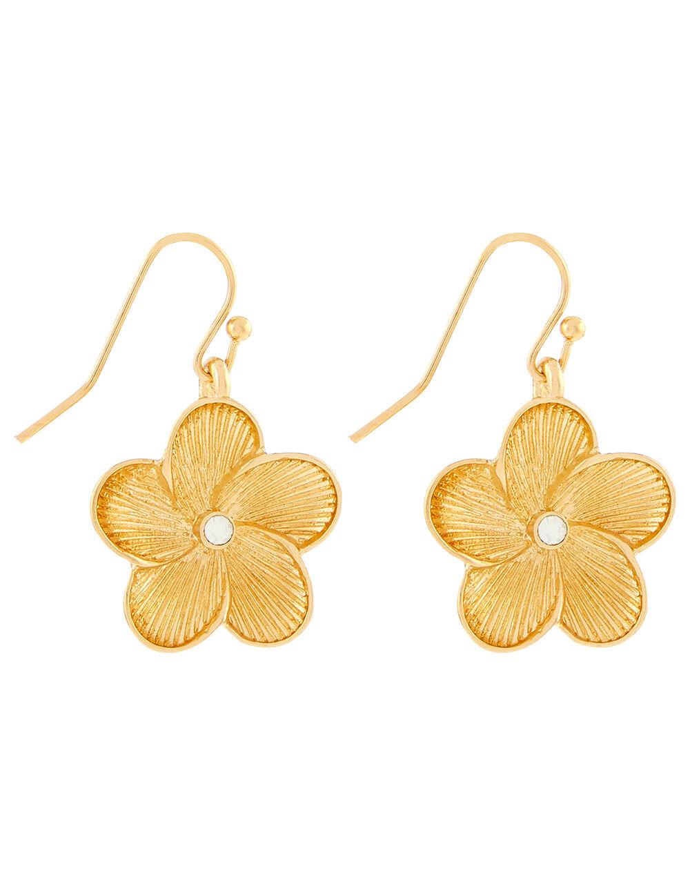 Flower Short Drop Earrings, , large