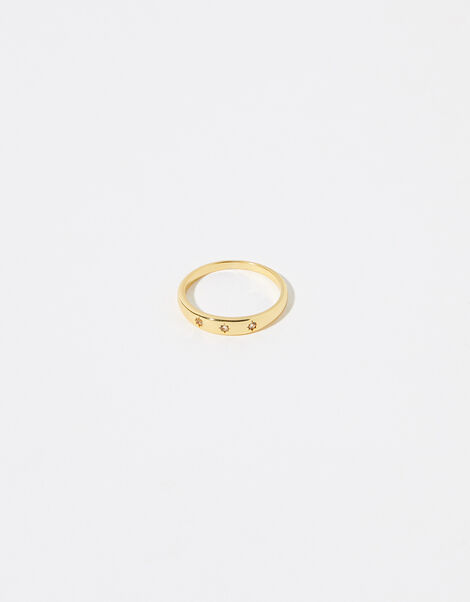 Gold Vermeil White Topaz Band Ring Gold, Gold (GOLD), large