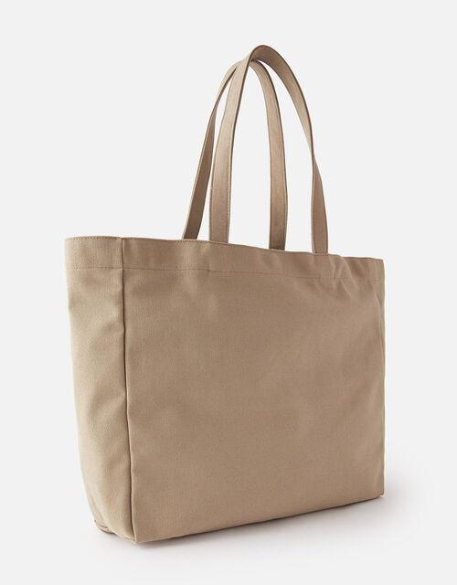 Canvas Shopper Bag , Green (KHAKI), large
