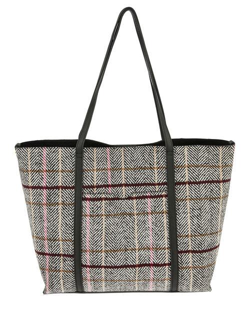 Check Print Tote Bag, , large