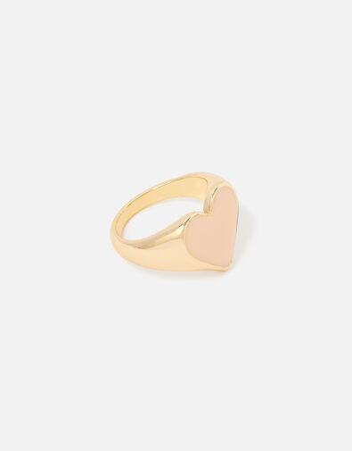 Feel Good Enamel Heart Ring  Pink, Pink (PINK), large
