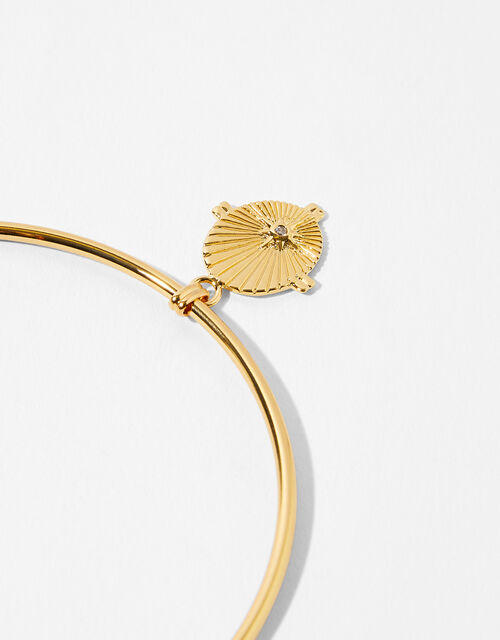 Gold-Plated Star Ray Bangle, , large
