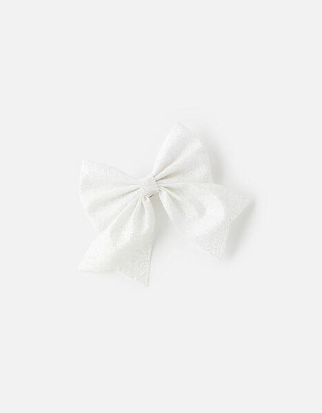 Glitter Bow Barette , , large