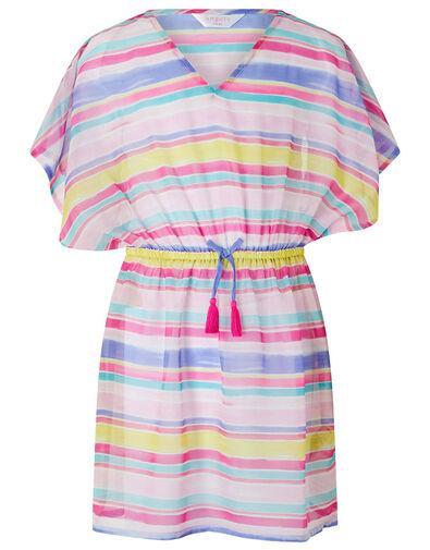 Stripe Chiffon Kaftan Dress Multi, Multi (BRIGHTS-MULTI), large