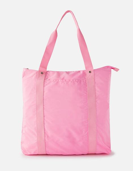 Packable Shopper Bag Pink, Pink (PINK), large