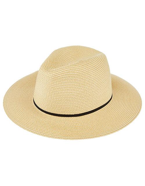 Packable Panama Hat, Natural (NATURAL), large