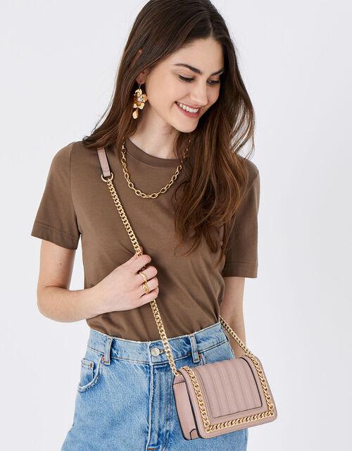 Chain Trim Bag, Pink (PINK), large