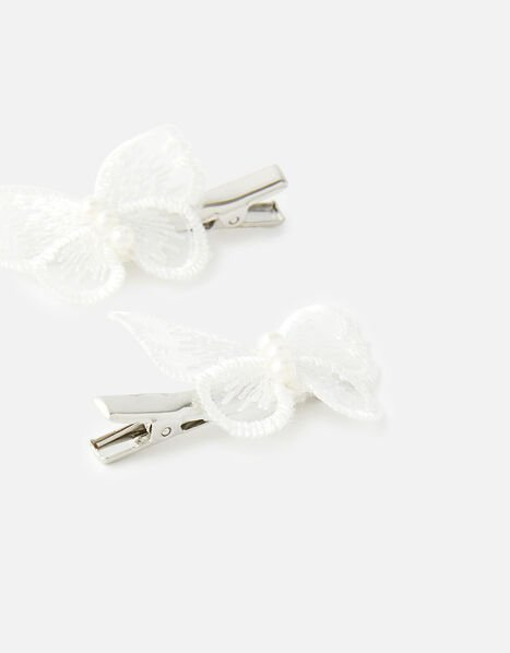 Lace Butterfly Hair Clips, , large