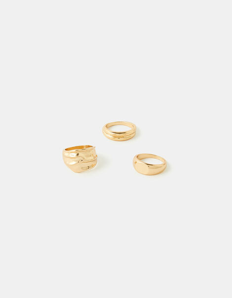 Chunky Ring Set Gold, Gold (GOLD), large