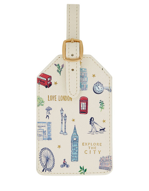 All Over London Luggage Tag, , large