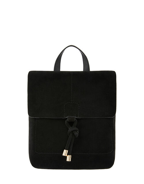 Maud Suede Backpack, Black (BLACK), large