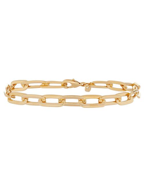 Gold-Plated Large Link Chain Bracelet, , large