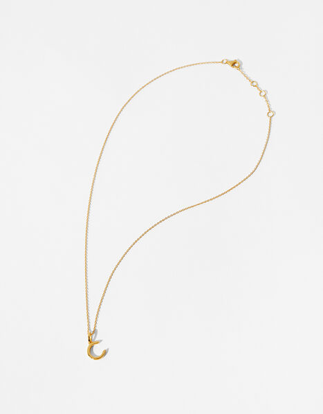 Gold Vermeil Initial Pendant Necklace - C, , large