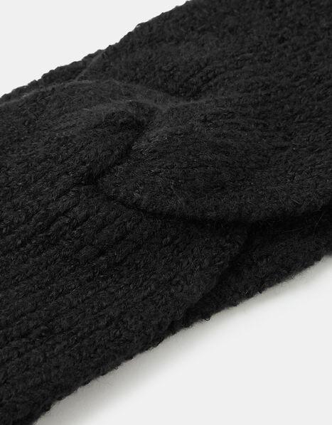 Knit Bando Headband Black, Black (BLACK), large