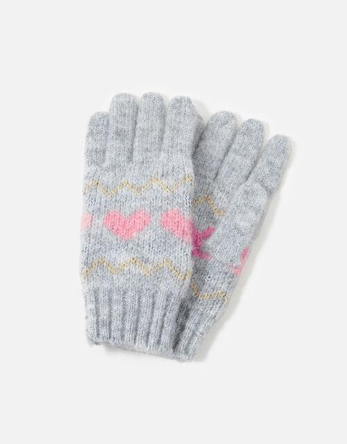 Girls Fairisle Fingerless Gloves, Multi (PASTEL-MULTI), large