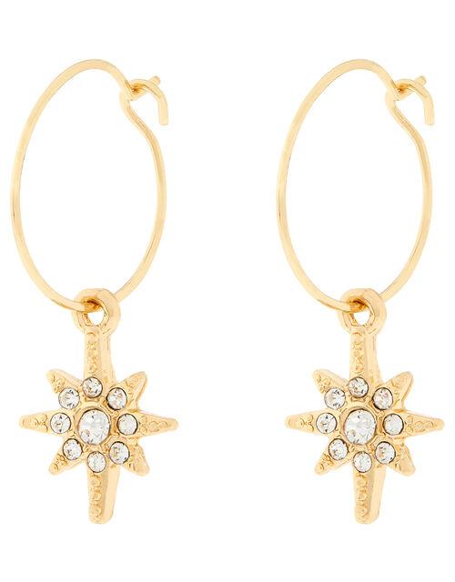 Sparkle Star Drop Earrings, , large