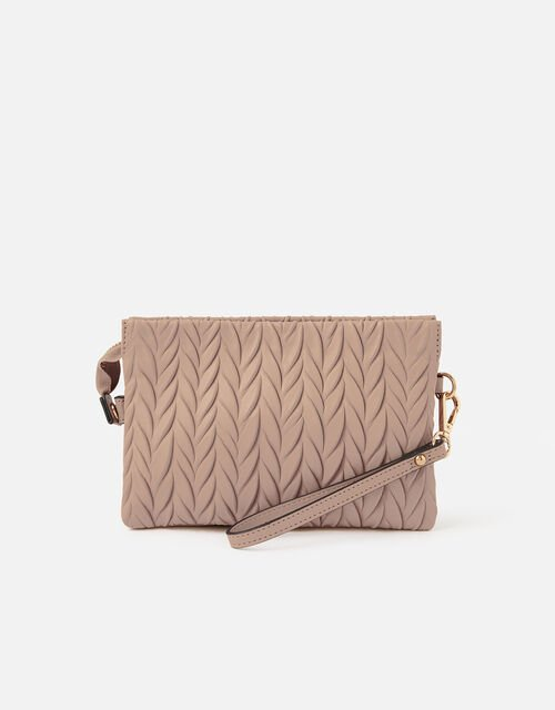 Paige Pleated Cross-Body Bag, Pink (PINK), large